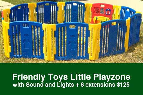 Friendly Toys Little Playzone with Sound and Lights  6 extension - $125 (South Side, Staples  Lipes)