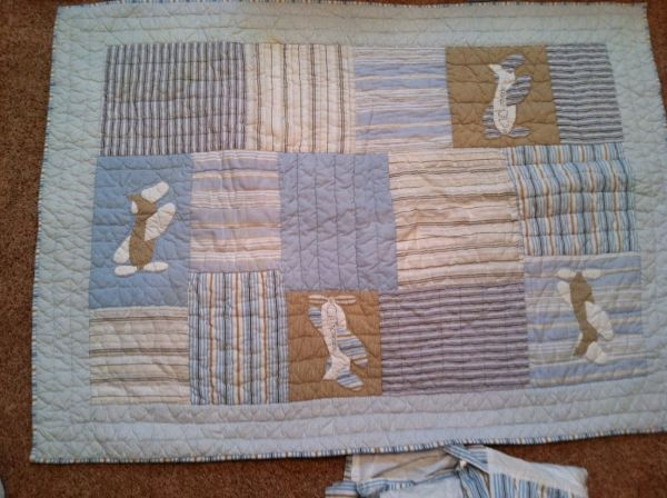 Pottery Barn Airplane Crib Set - $100 (Southside)