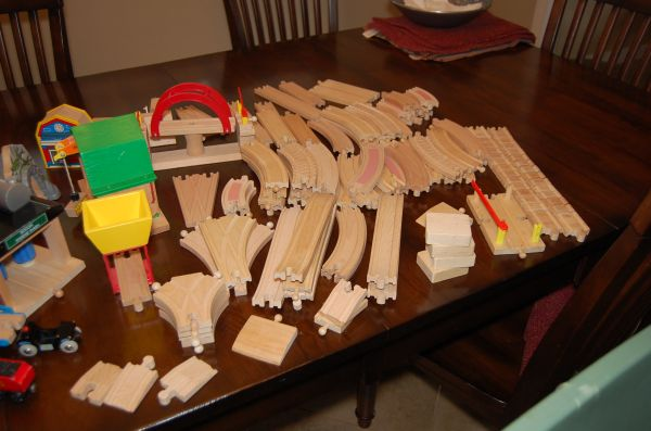 HUGE wood Thomas Train Set - $180 (CC)