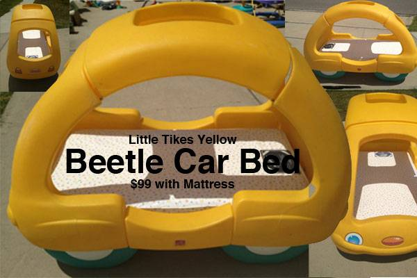 Little Tikes Yellow Beetle Car Bed - $99 (South Side, Staples  Lipes)