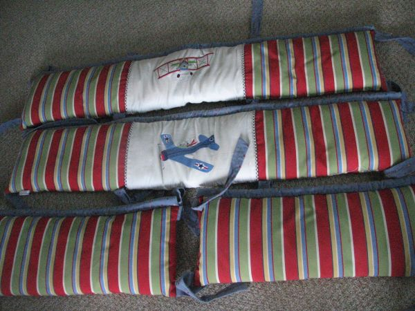 Baby boy airplane bedding - $150 (Portland)