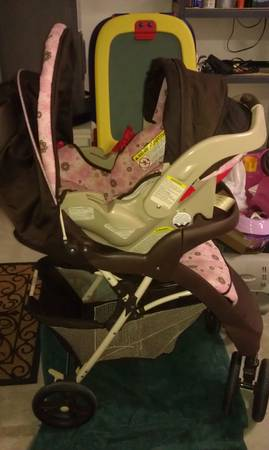 Graco -pink and brown stroller set - $60 (C.C.-Southside)