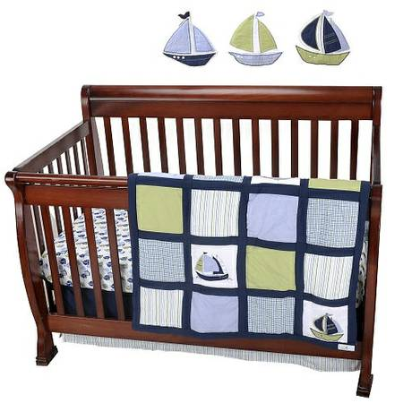 Nautica 10 Piece baby boy crib bedding NEW (Airline)
