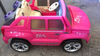 Pink Barbie Escalade Hybrid Power Wheels  - $230 (corpus ss)