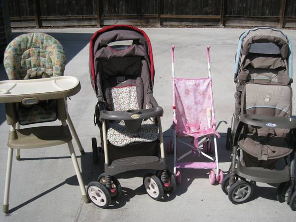 Strollers, high chair and more - $5 (Southside)