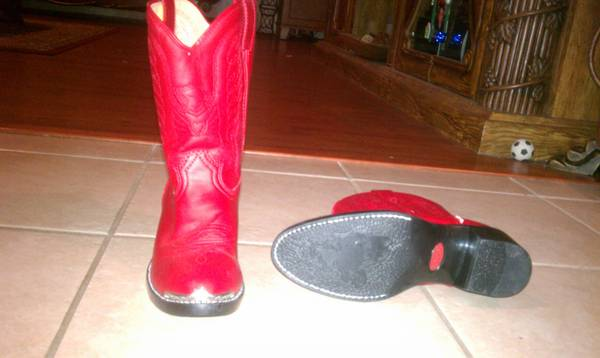Durango Childrens Silver Tip Western Boots - Red Size 2 - $20 (Southside)