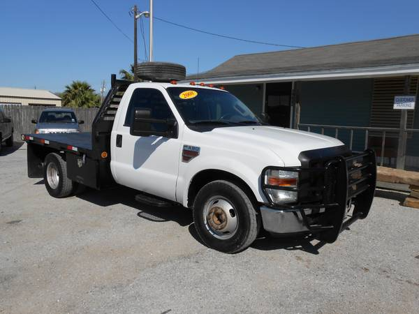 2008 FORD F350 POWERSTROKE DIESEL DUALLY FLAT BED - $12500 (CORPUS CHRISTI)