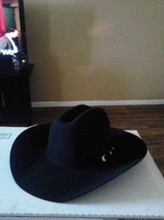 New Black Cowboy Hat Cavenders 10X Silver Star - $200 (Everheart)