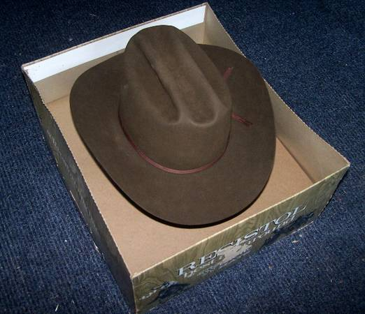 Vintage New Resistol 7 38 Ridge Top Western Cowboy Hat 3X Beaver - $85 (Rockport)