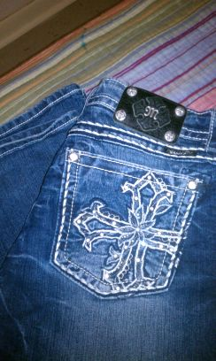 MISS ME JEANS $30 LIKE NEW) SIZE 32 - $30 (SOUTH SIDE)