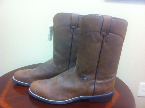 Justin Mans Western Ropers JB 3001 new with tags size 12D - $40 (Corpus Christi)