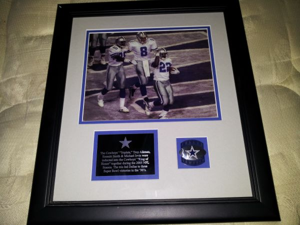 Dallas Cowboys framed picture the triplets - $100 (Corpus and surrounding areas)