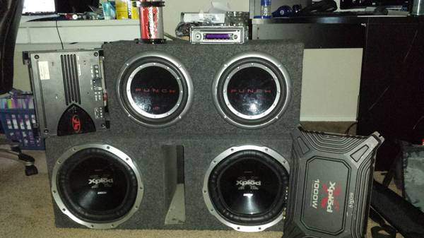 Rockford Fosgate Sony Xplod subs and s - $1 (Corpus Christi)