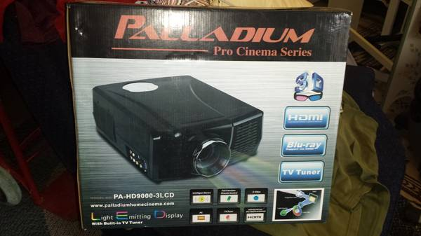 palladium home projector with mount - $400