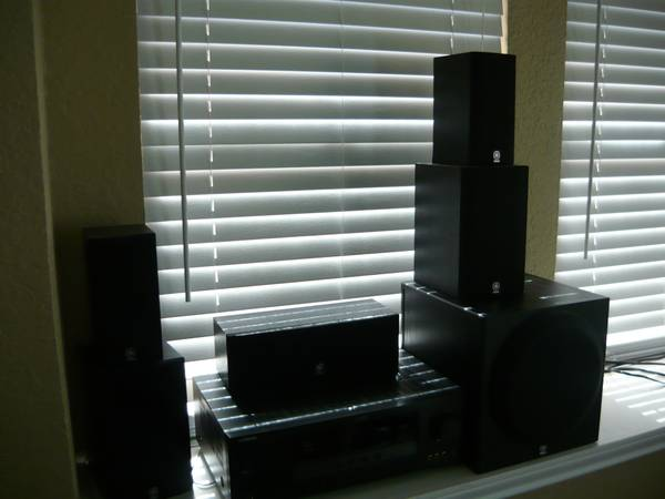 Yamaha 600 total watt 5.1 Surround Sound Home Cinema Package - $300 (Southside)
