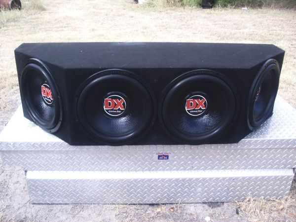 4 15inch DX 2ohm SUBS IN BOX - $450 (CC.AREA)