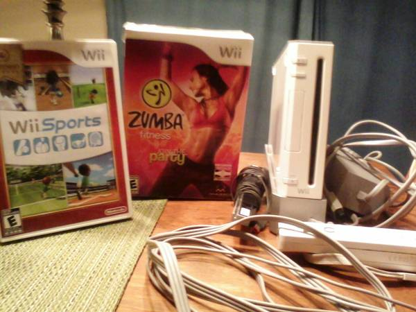 Wii with Zumba Game Disc - $110 (Rockport Texas)