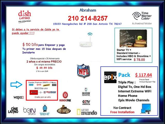 Cable  Internet and Dish