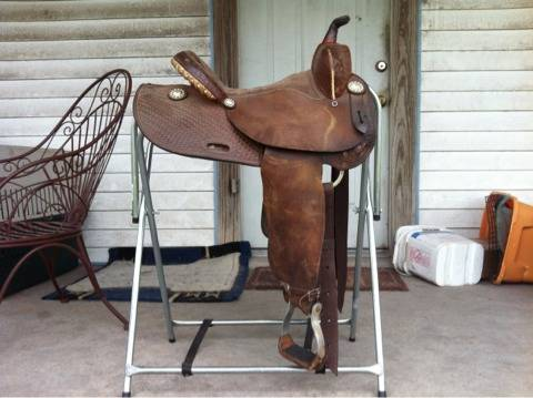 Ed Wright Barrel Saddle 13.5 - $650 (Robstown)
