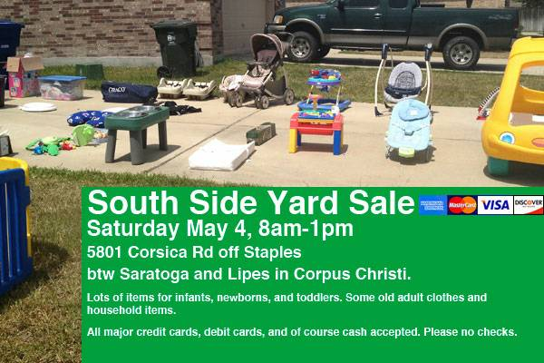 Garage Sale, Today 8a-1p, Lots of Kids Stuff (South Side, Staples  Lipes)