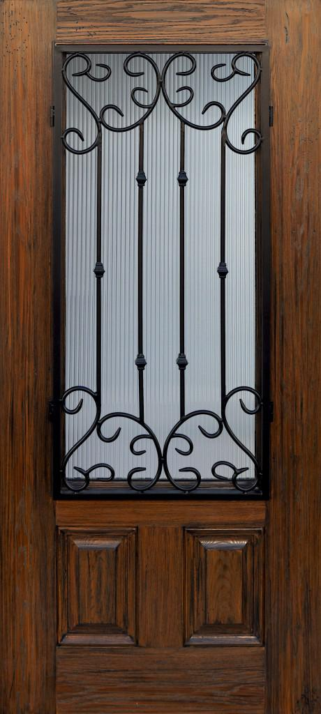 Brand New  Never Used Glasscraft Entry Door with Wrought Iron  Beautiful  Must See