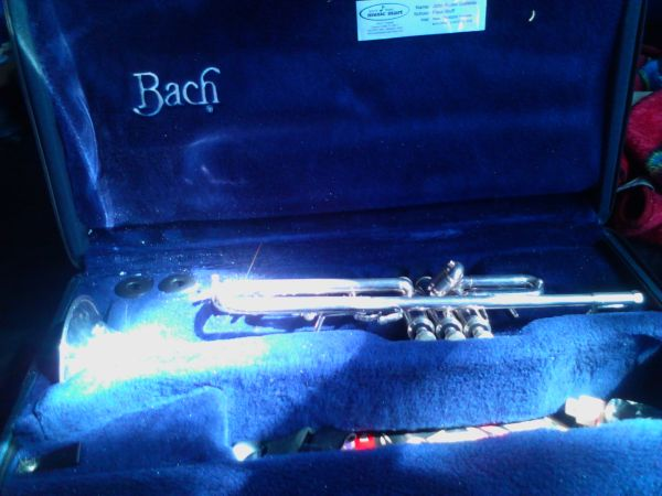 BACH OMEGA - silver plated trumpet - $850 (cc-fb)