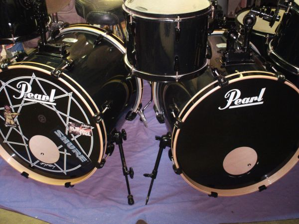 Pearl Joey Jordison Export 7-Piece Double Bass Drum Set w extra items - $800 (Gregory, TX)