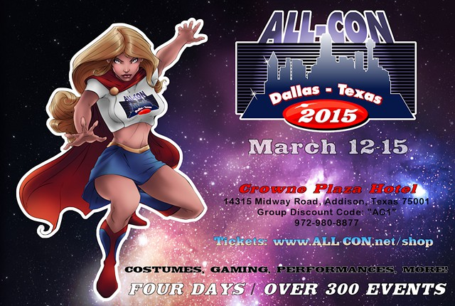 ALL-CON Dallas  TX offers Over 300 events to choose from  March 12-15