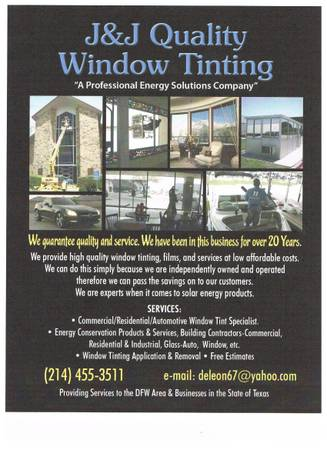 J J Quality Window Tinting  amp  Glass      East  TX