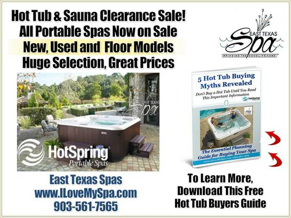 Spa Dealer Lufkin  Hot Tubs Kilgore TX Call 903-561-7565  Tyler  TX