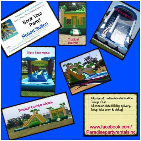 I have theses bounces houses for rent for your next event