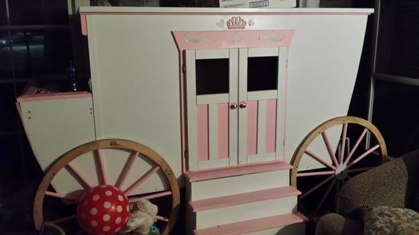 custom made twin size princess carriage bed -   x0024 300  longview