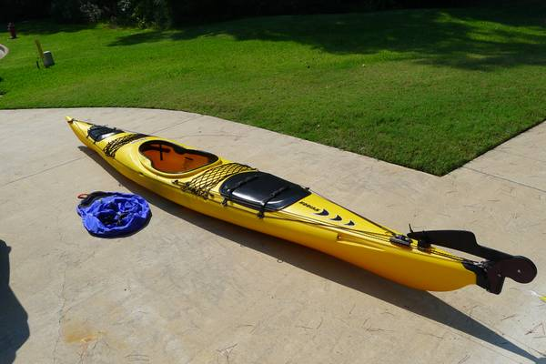 Kayak - Prijon Kodiak w rudder  amp  spray-skirt -   x0024 1000  tyler tx