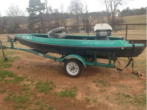 Water moccasin boat - $1500 (Overton, texas)