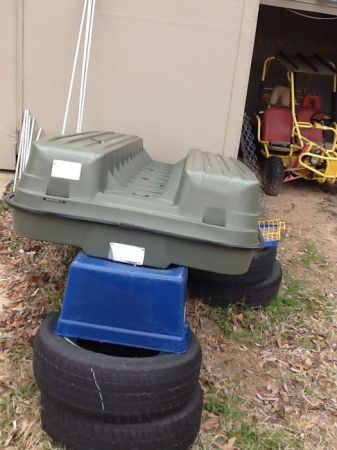 8 ft pelican bass raider boat - $500
