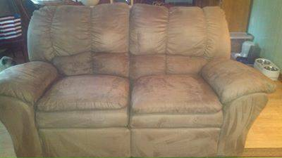 Ashley Micro-Suede Couch Love Seat - $300 (Rusk)