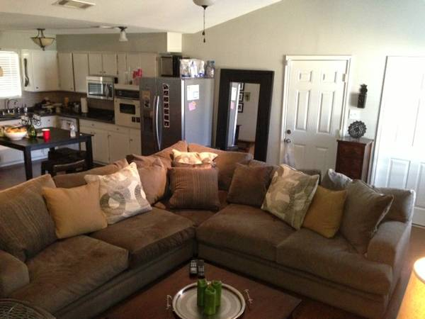 Cindy Crawford 3 piece sectional couch and coffee table - $1000 (Kaufman)