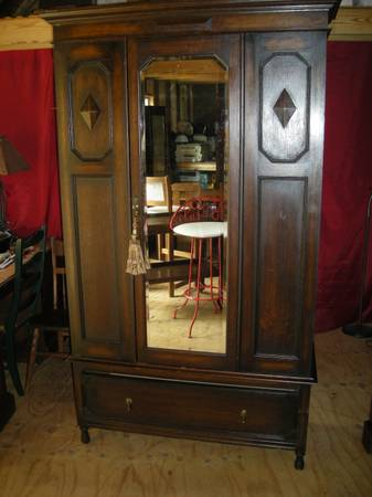 Antique English Oak Victorian Chifferobe - $325 (Kilgore)