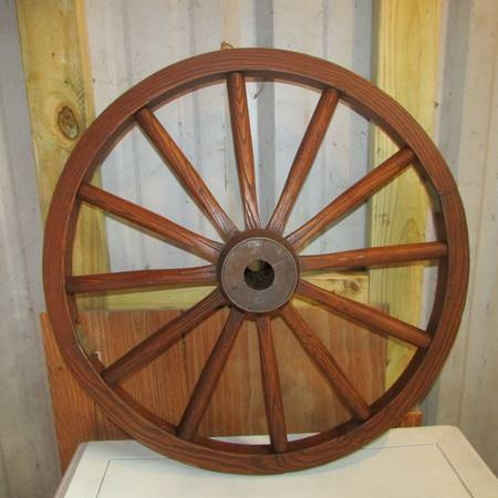 Nice Oak Wagon Wheel - $35 (Hawkins)