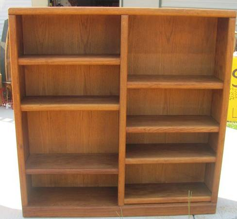 Oak Express 4 x 4 Double Bookshelf - $55 (W. Tyler)