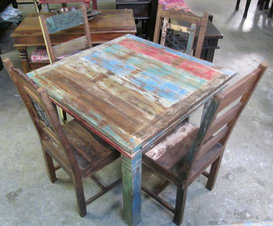 Reclaimed Wood DINING FURNITURE from India (Ganesha Home - FREE Shipping)
