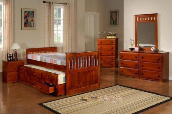 NEW-- CAPTAINS--FULL BED TRUNDLE ---ALL SOLID WOOD - $429 (TYLER,LINDALE,CANTON,ATHENS)