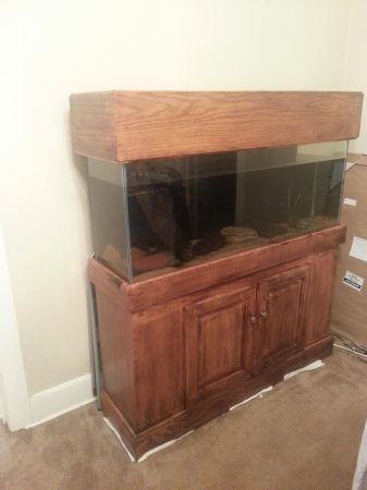 55 gallon aquarium with stand and canopy - $300 (nacogdoches)
