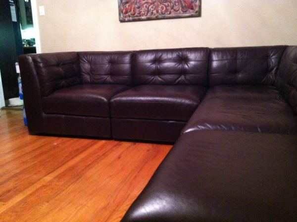 Itailian Leather Sectional Sofa - $1500 (Longview, TX)