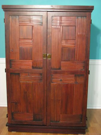 Large Rustic Armoire Pier One - $225 (Palestine Area)