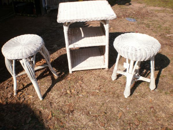 vintage wicker chairs,plant stands,stools etc (Whitehouse)