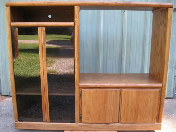 Oak Entertainment Center - $95 (Jacksonville)