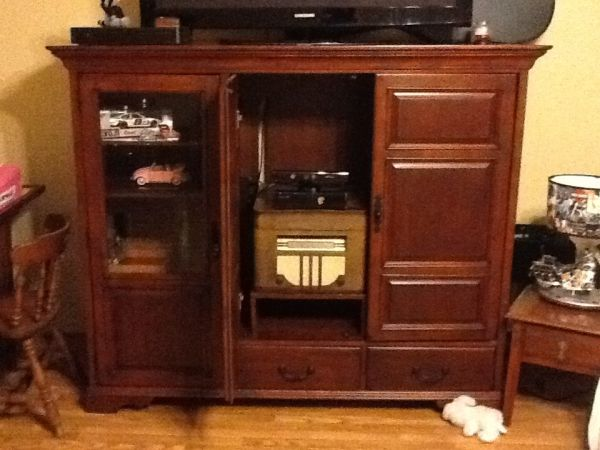 Solid oak entertainment center armoire - $500 (19586 Hwy 69 N)
