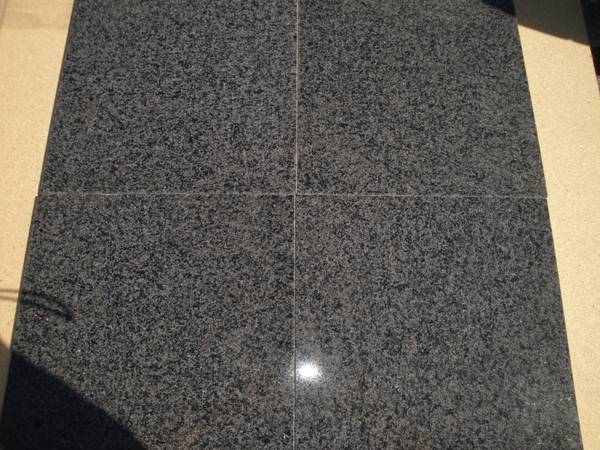 Five 12  x 12  Impala Black Granite Tile -   x0024 10  Winnsboro  TX