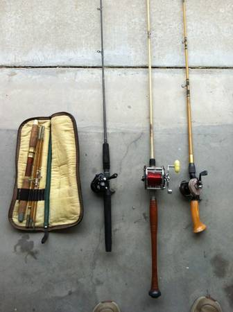 Vintage Fishing Rods, Reels, other - $350 (Alba, TX (Lake Fork))
